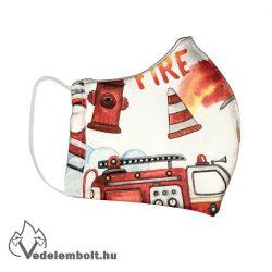Tűzoltós textil szájmaszk