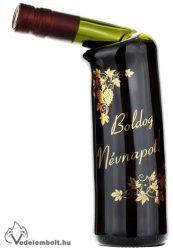 Ferde nyakú rogyasztott üveges bor Boldog névnapot!