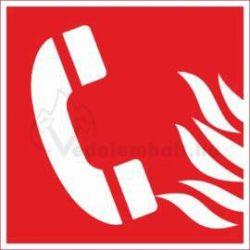 Tűzbejelentő telefon piktogram