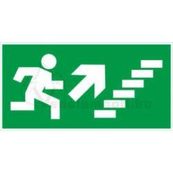 Menekülési útvonal utánvilágító tábla lépcsőn jobbra fel